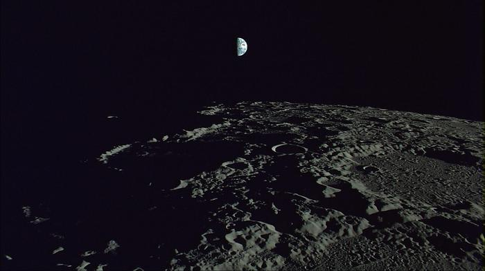 half earth as seen from the moon