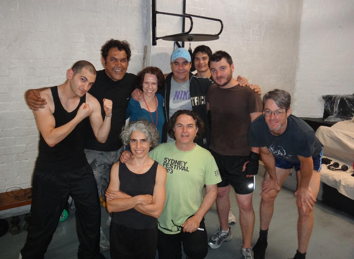 Boxer Jeff Fenech visits Roslyn Oades and the cast of I'm Your Man