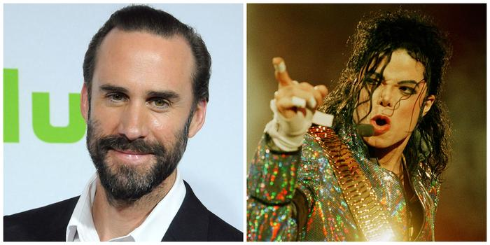 English actor Joseph Fiennes and American singer Michael Jackson