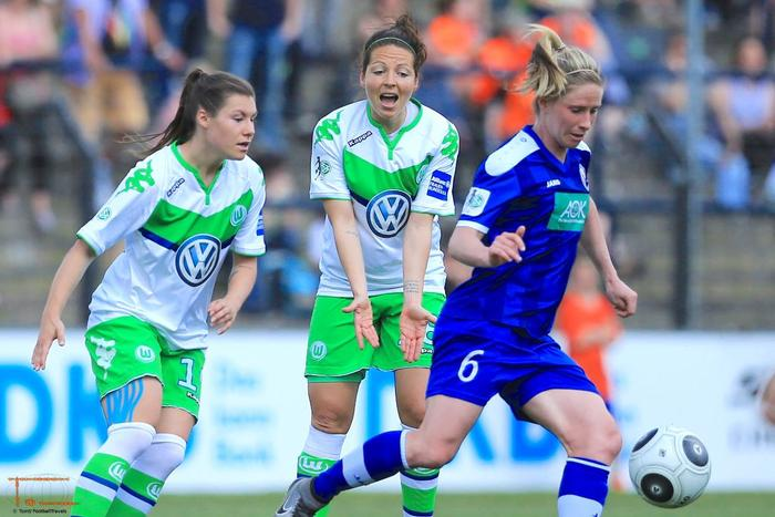 Kellond-Knight's Potsdam with a big win over Wolfsburg (Photo: Tom Seiss)