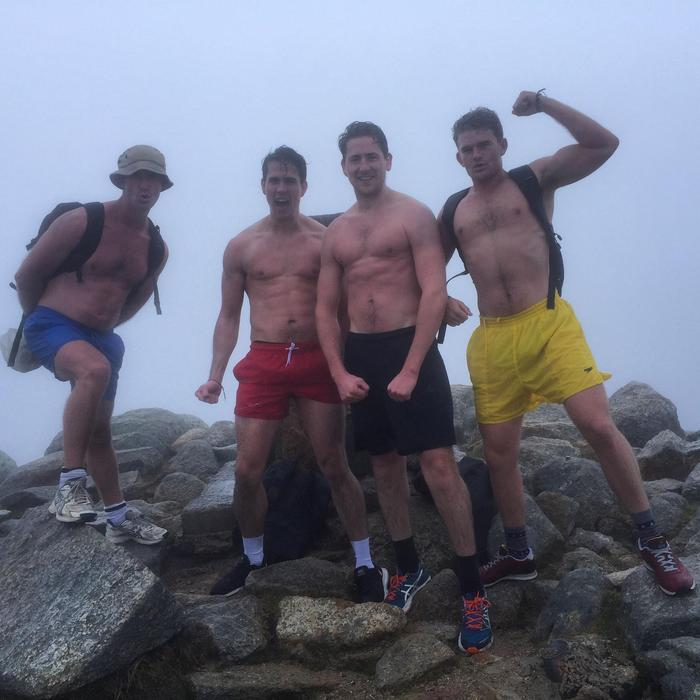 The Kossie in Cossies men during their training run last August.