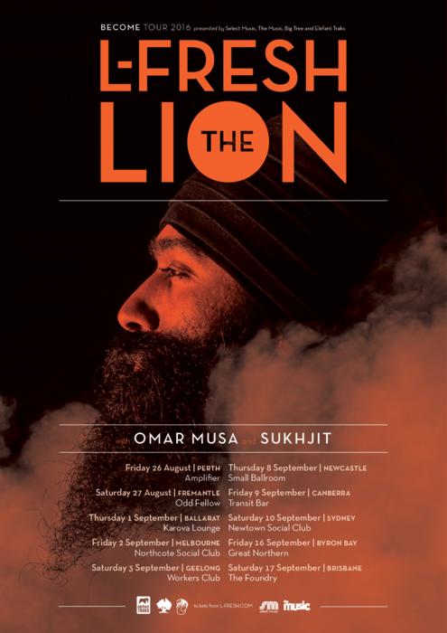 L-Fresh The Lion tour poster
