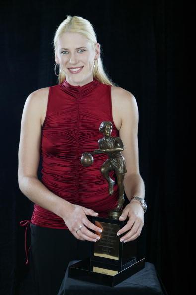 Jackson with MVP award