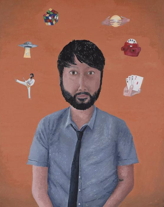 Maximum Lawrence, Dean Manning's portrait of comedian Lawrence Leung.
