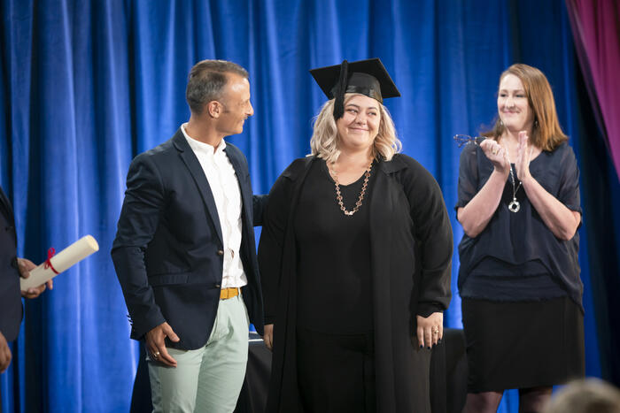Makere at her Lost for Words graduation.