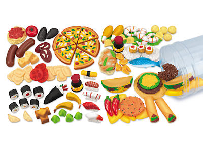 food, multicultural, kids, toys, fake food, toy food, pizza, taco