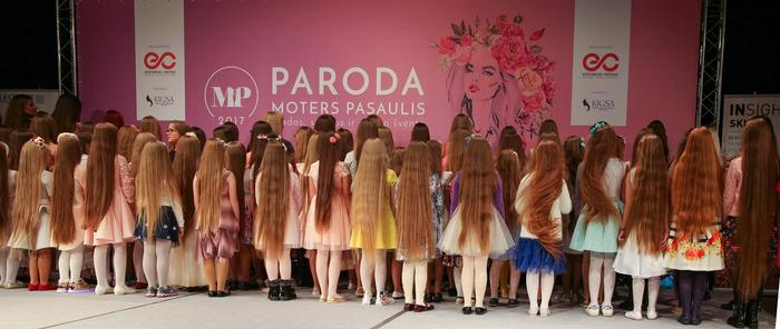 Competitors take part in Lithuania's long hair contest (Facebook/Konkursas Pasaulio Ilgaplaukės Long-Haired World)
