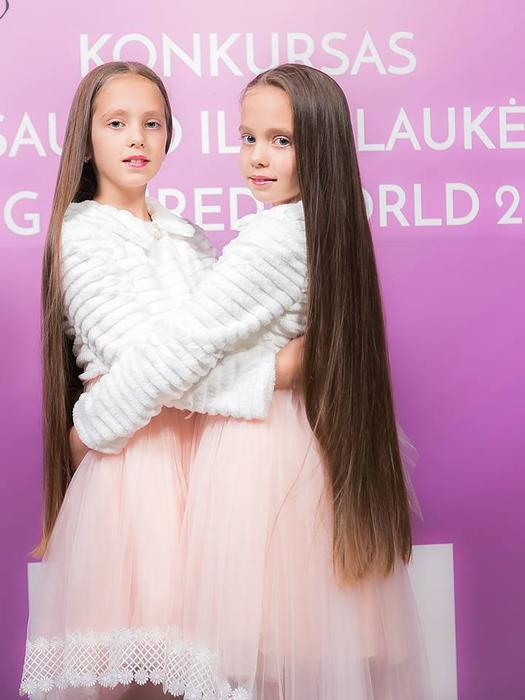 Competitors take part in Lithuania's long hair contest