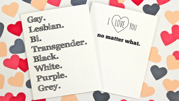 Queer Valentine's Day card.
