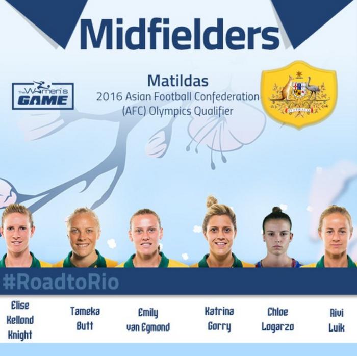 Matildas - Midfield