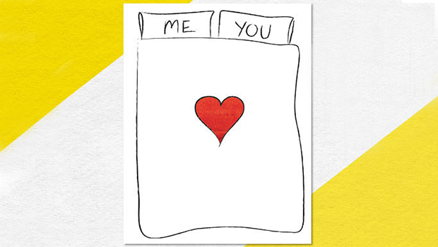 Me + You + Bed Valentine's Day card