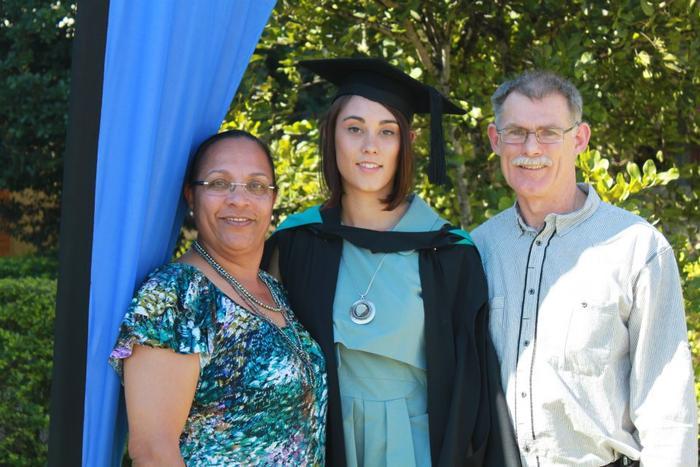 Mibu Fischer with parents Bernice and Bruce Fischer