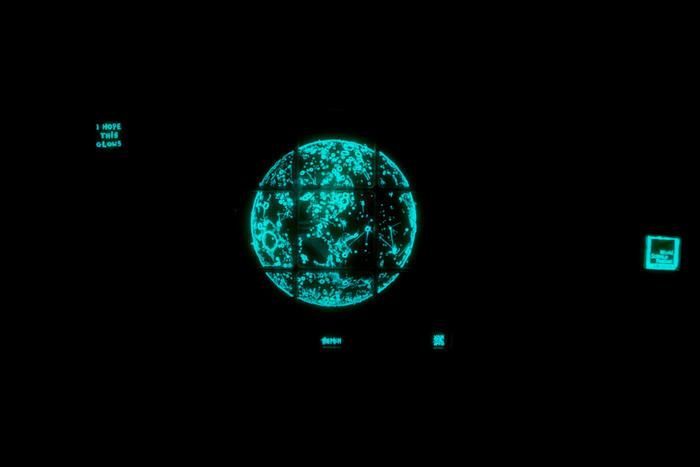 bioluminescent moon painting