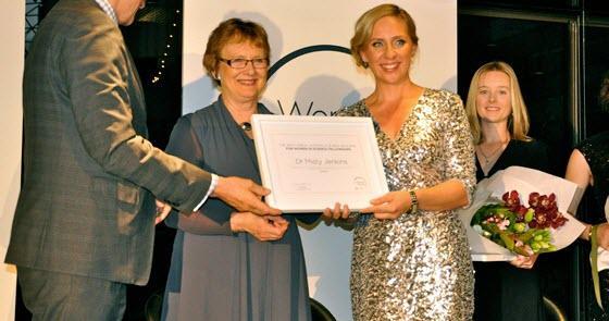 misty jenkins receiving a fellowship award