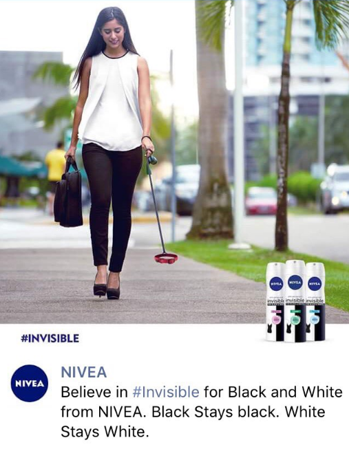 The second advertising image that recently landed NIVEA in hot water.