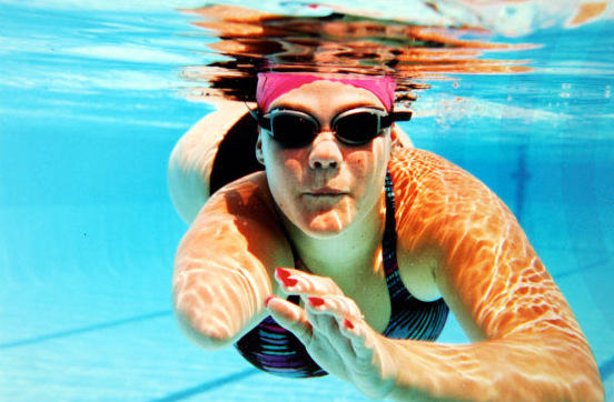 Swimmer Tracy Lee Barrell