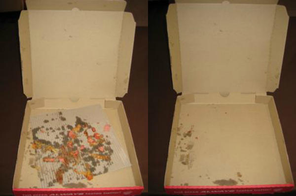 pizza box recyclable and not