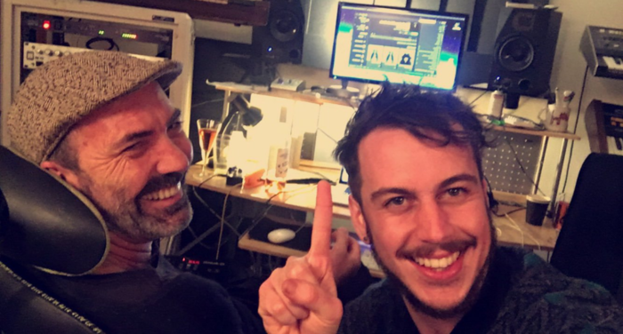 Maclean with producer and friend, Paul Mac.