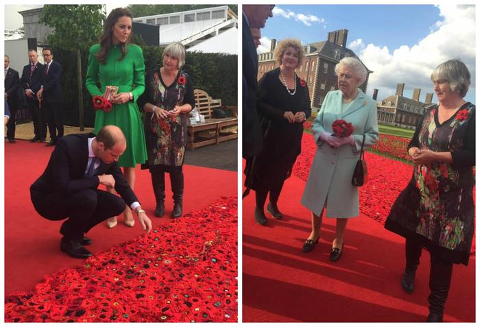 Margaret Knight and Lynn Berry of 5000 Poppies meet the Royal Family