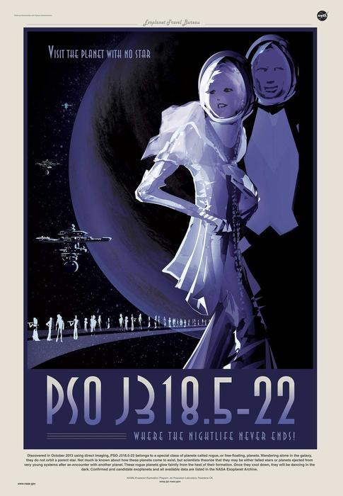 NASA Nightlife planet poster