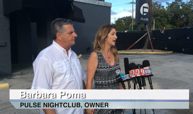 Barbara Poma announces the beginning of the planning process for a permanent memorial at Pulse nightclub.