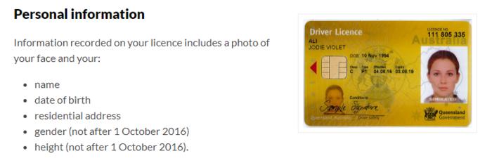 change name drivers license qld