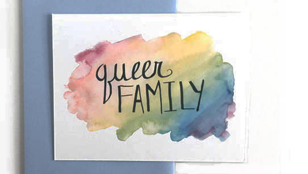 Queer family Valentine's Day card