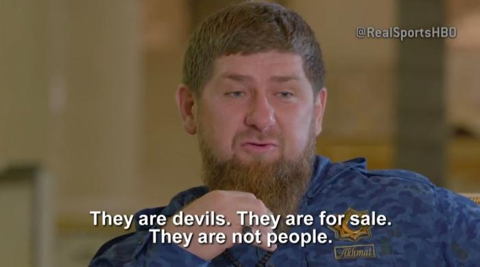 Ramzan Kadyrov says there are no gays in Chechnya