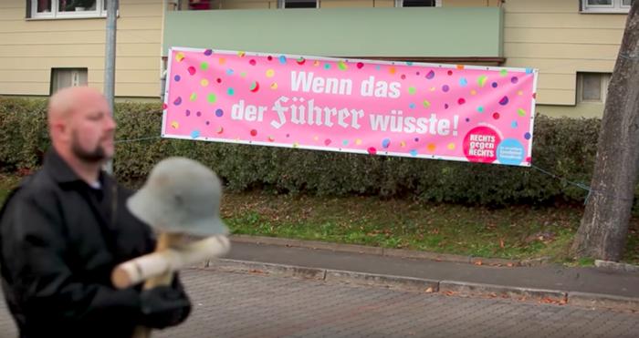 Neo-Nazi marchers in Wunsiedel, Germany