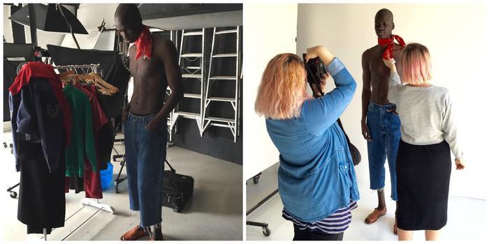 Model Yach Bol prepares for a shoot