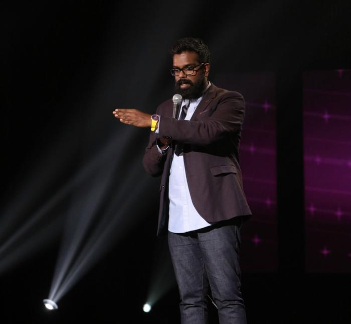 Romesh Ranganathan on stage