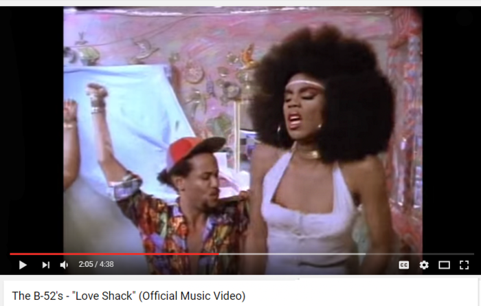 B-52's 'Love Shack' music video.