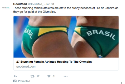 Objectified athletes