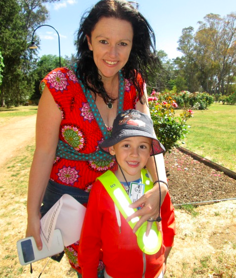 Rebecca Kelly with her son.