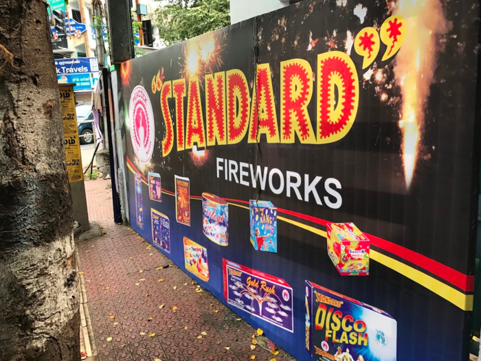 There are no restrictions on buying fireworks in India, so everybody does