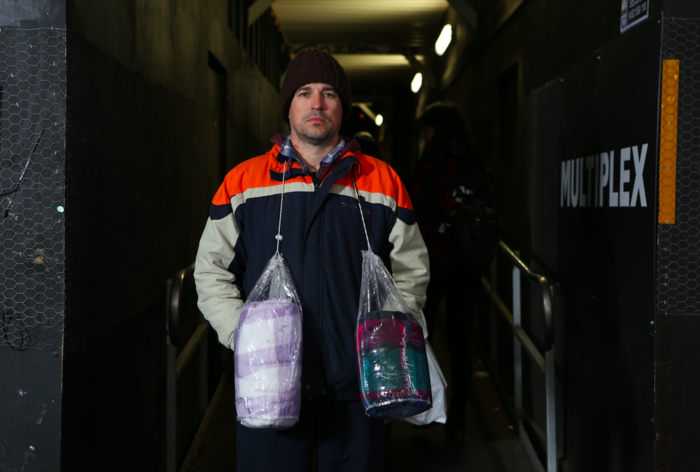 Wealthy documentary participant turned homeless, Tim Guest.