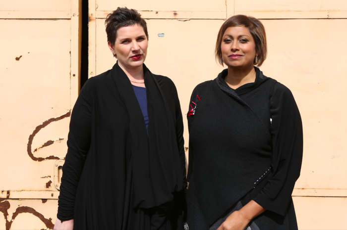 Filthy Rich and Homeless co-hosts (L to R): Dr Catherine Robinson and Indira Naidoo.
