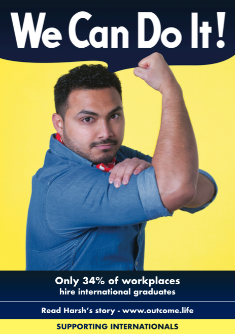 Harsh Solanki from the 'We Can Do It' campaign by international students