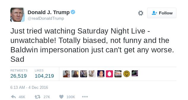 Donald Trump Sad!