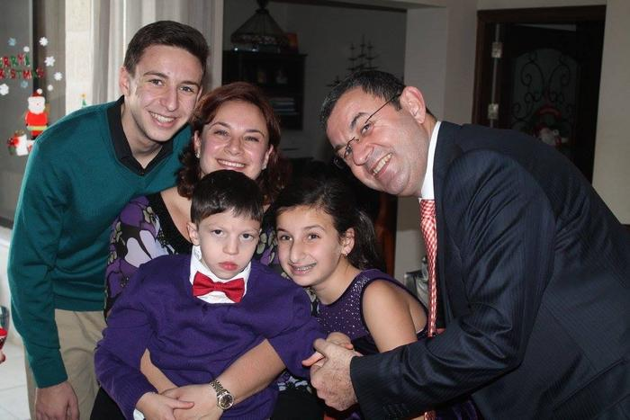 The Qushair family (Serene pictured in the middle).