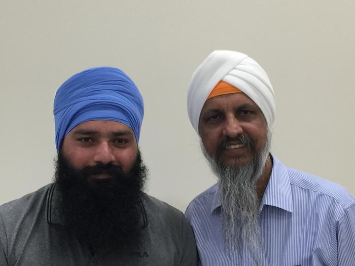 L to R: Hardeep Singh and Jasbir Singh Suropada.