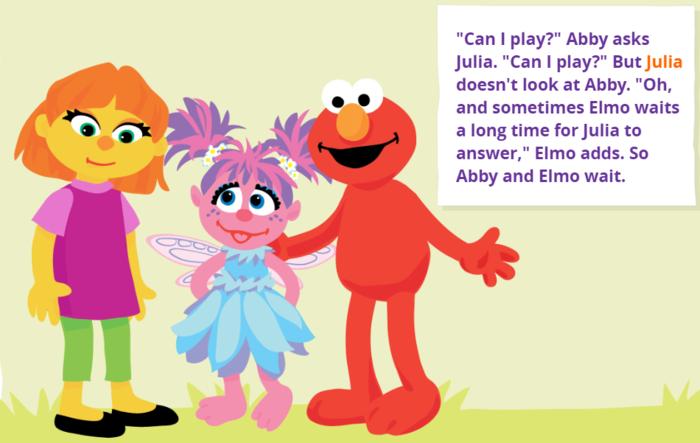 Sesame Street and Autism.