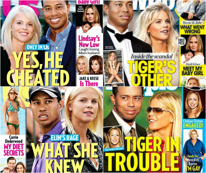 Tiger Woods magazine covers