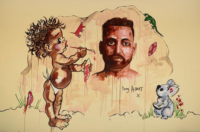Tony Albert's self-portrait is called Tony Albert (after Brownie Downing)