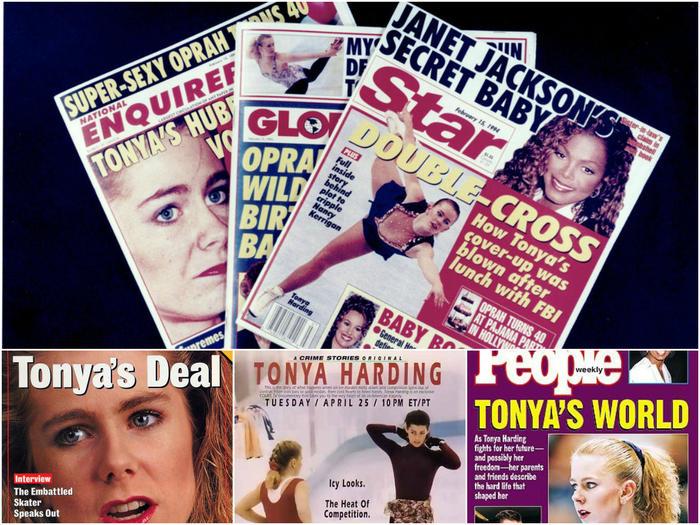Tonya Harding magazine covers