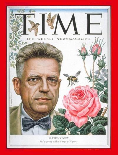 Alfred Kinsey on the cover of TIME Magazine, 1953.