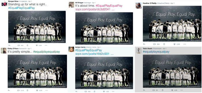 USWNT twitter support