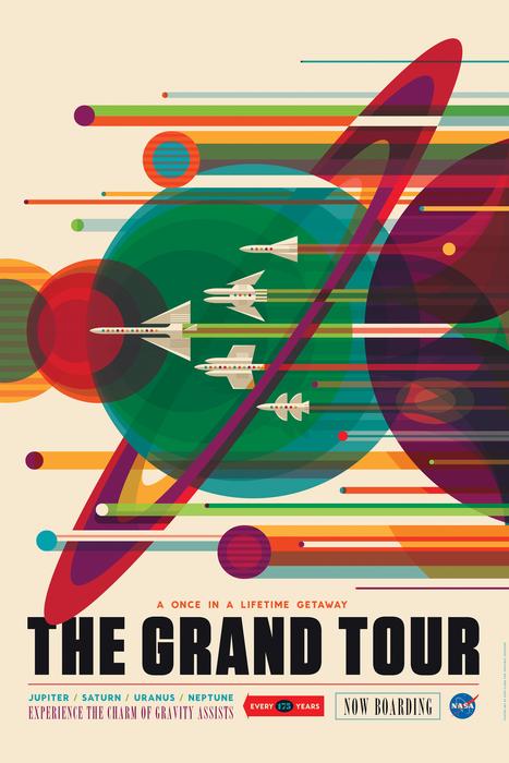NASA JPL Voyager mission poster