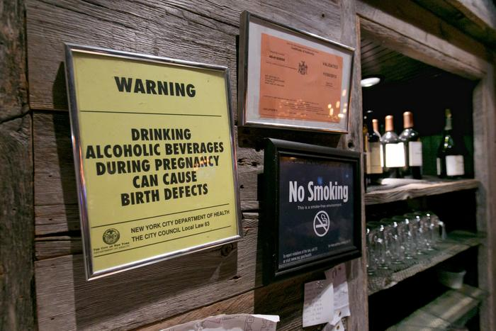 alcohol warning sign new york for pregnant women