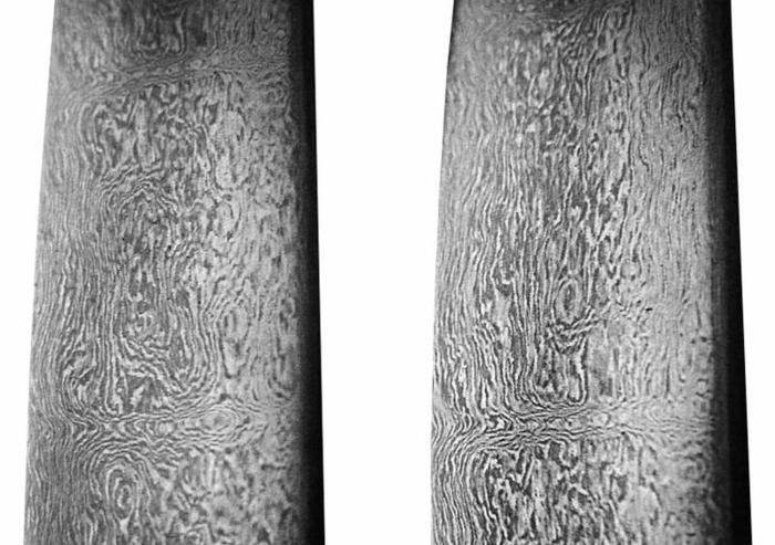 18th-century Persian-forged Damascus steel sword